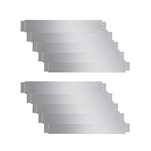vidaXL 10x Rasenkante Metall 100x15cm Beetumrandung Beeteinfassung Mähkante
