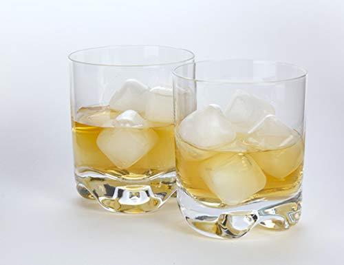 KIKKERLAND - Cubitos de hielo reutilizables 30 unidades de plástico transparente, rellenos de agua pura para congelar.
