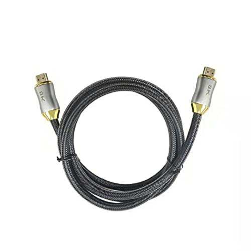 HehiFRlark Cable Compatible con HDMI Versión 2.1 8K 60Hz Cable de conexión de monitoreo de TV Cable Compatible con HDMI Versión 2.1 8K 60Hz Cable de conexión de monitoreo de TV Cable Negro 1m