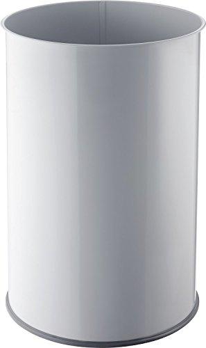 Helit corbeille à papier en métal H2515282 35 L (gris clair)