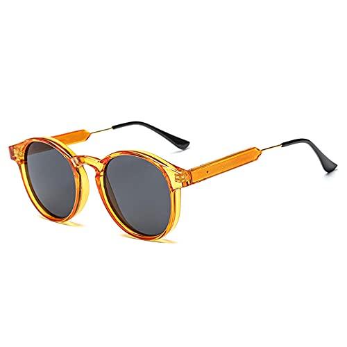 IRCATH Gafas de Sol Redondas Hombres Mujeres Transparente Mujer Gafas de Sol Hombres Gafas de Sol Hombres Adecuado para la Playa Conducción y Senderismo-C5 Adecuado para Conducir en la Playa Se Puede