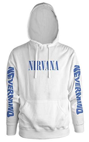 Nirvana 'Nevermind' (White) Pull Over Hoodie (medium)