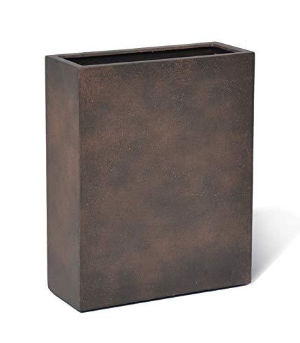 VAPLANTO® Pflanzkübel HIGH Box 60 Rost Braun Raumteiler * 60 x 24 x 74 cm * 10 Jahre Garantie
