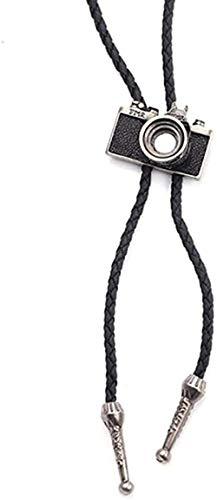 AOAOTOTQ Co.,ltd Halskette Western Cowboy Rodeo Leder Gürtel Krawatte Kamera Anhänger Halsketten Krawatte Halskette für Männer Frauen