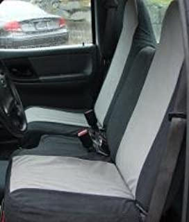 Durafit Seat Covers, Made to fit 1998-2003 Ranger XL Regular Cab Front 60/40 Split Bench Seat Covers in Gray Endura with Molded Headrests and Without Armrest