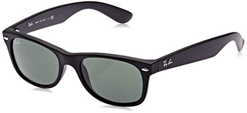 Ray-Ban New Wayfarer, Gafas de Sol Unisex  adulto, Negro (Black 622), 55 mm