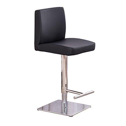 FEIFEI Tabouret de Bar Acier Inoxydable + PU Simple et Élégant Réglable Hauteur 360 ° Rotation Bar Home Cafe Pratique Chaise