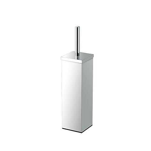 Gatco 1488 Elegant Square Toilet Brush Holder, Chrome
