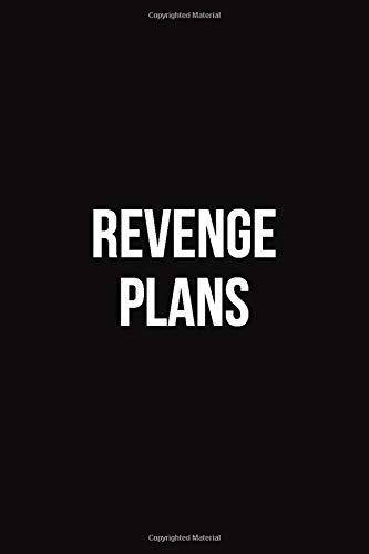 Revenge Plans: Blank Lined Journal Coworker Notebook (Funny Office Journals)
