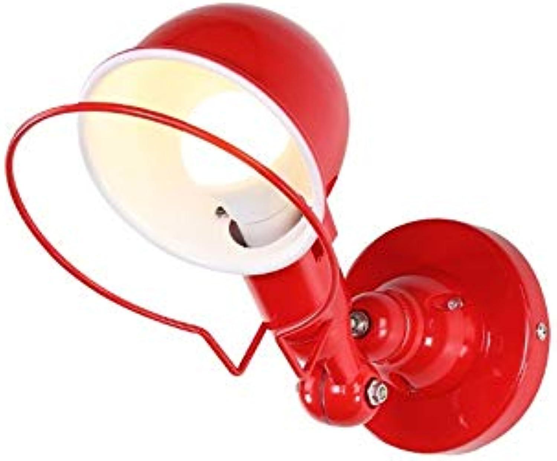 Mini Nordic Postmodern Elegante Kreative Wandleuchte Leuchte Europischen Amerikanischen Stil Wandlampen Eisen Kunst Dekoration LED Bar Shop Foyer Schlafzimmer Nachttischlampe,rot