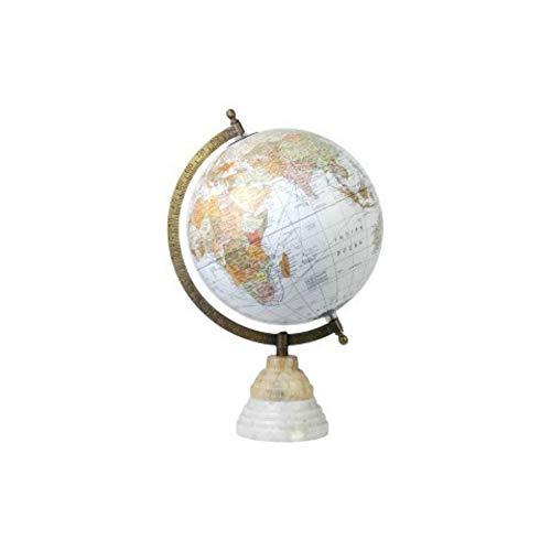 CAPRILO Globo Terráqueo Decorativo Mapamundi de Metal Mapa Mundi. Material Escolar Educativo. Papelería Regalos Originales. Decoración Hogar. 34 x 22 x 20 cm.