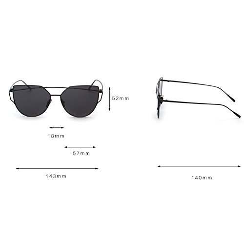 RetroUV® Adatti a donne occhi di gatto occhiali da...