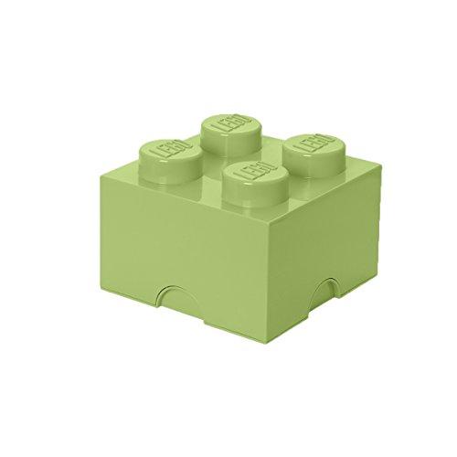 LEGO Aufbewahrungsstein, 4 Noppen, Stapelbare Aufbewahrungsbox, 5,7 l, gelblich grün