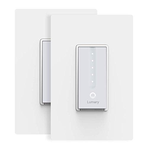 Smart Dimmer Switch, Lumary Wi-Fi Electrical In-Wall Decor Light Switch for LED, CFL, Halogen, and Incandescent Bulbs, with Timer and Wireless Control, Integrate with Alexa, Google Assistant