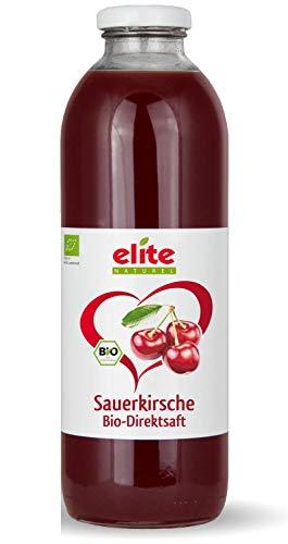 Elite Naturel Bio Sauerkirsche Muttersaft naturtrüb - 100% Direktsaft ohne Zusätze, 12x 700 ml