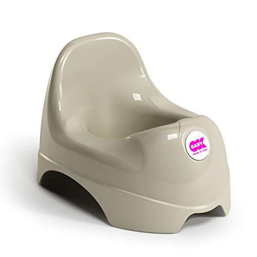 OKBABY Relax - Vasino per Bambini con Seduta Ergonomica e Schienale Rialzato - Grigio