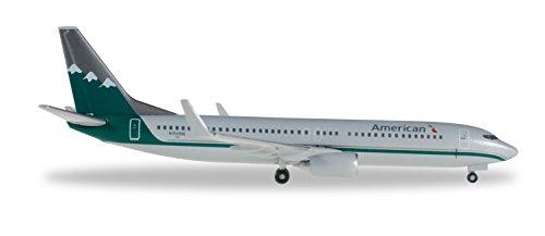 Herpa 529372 737-800-Reno Zum Basteln, Sammeln und als Geschenk American Airlines Boeing 737-800 Reno Air Heritage Livery-Miniatura para Manualidades, coleccionar y Regalar, Multicolor