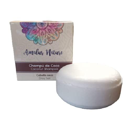 Champú sólido Coco sin sulfatos - 50 gramos- cabello seco - con karite y coco -