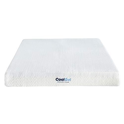 Classic Brands Cool Gel Ventilated Gel Memory Foam 8-Inch Mattress , Full, White