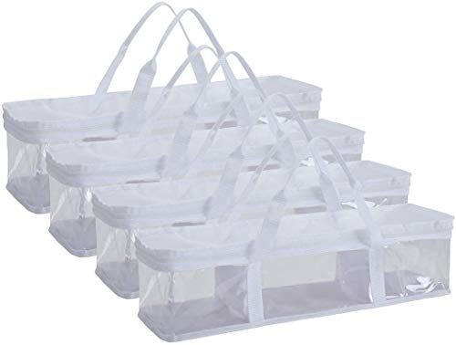 Fasmov 4 Pack CD Storage Bags Hold up to 144 CD's (36 Each Bag)