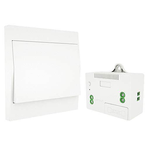 MOES RF433 Funkschalter Batterielose, Funk Lichtschalter Keine Batterie, Wandlichtsschalter Selbstversorgt Keine Verkabelung erforderlich Wandplatte Sender (1 Way Set)