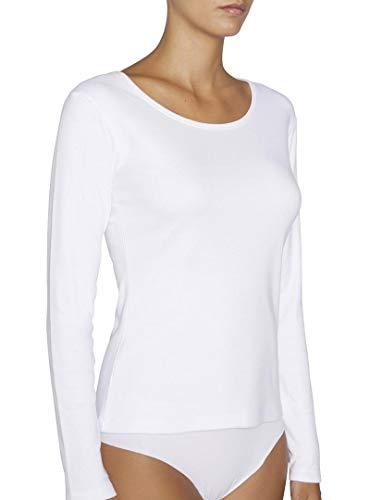 Ysabel Mora – Damen-T-Shirt, Baumwolle, langärmelig, für Babys und Kinder, Farbe: Weiß, Größe: Medium