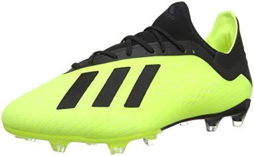 Adidas X 18.2 FG, Zapatillas de Fútbol Hombre, Amarillo (Solar Yellow/Core Black/Footwear White 0), 42 2/3 EU