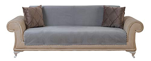Chiara Rose Couch Covers for Dogs Sofa Cushion Slipcover 3 Seater Furniture Protectors Futon Cover, Sofa, Diamond Grey