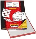 Markin C500 Etichette autoadesive, con margine 2.400, 70 x 36 cm, Bianco