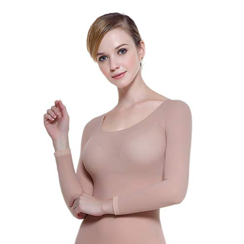 Lovexotic Women's Thermal Underwear Set,Scoop Neck Stretch, Nude, Size Medium