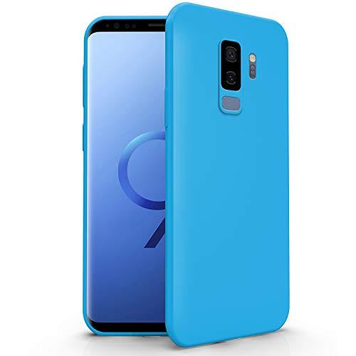 N NEWTOP Cover Compatibile per Samsung Galaxy S9 Plus, Custodia TPU Soft Gel Silicone Ultra Slim Sottile Flessibile Case Posteriore Protettiva (Azzurro Newtop)
