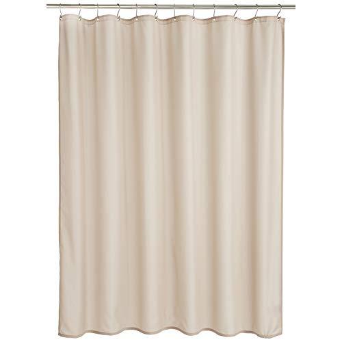 Amazon Basics - Cortina de ducha de poliéster estilo Dobby, lino, 183 x 200 cm
