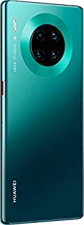"HUAWEI VOGUE-L29C Mate 30 Pro 5G Smartphone,Dual SIM, 256GB, 8GB RAM,40MP,4500mAh, 6.53"" Display - Emerald Green"