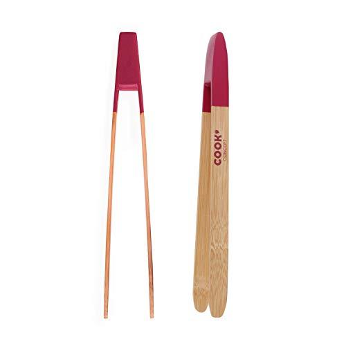 Cook Concept CMKU6119 Pinzas Tostadas 24 CM, bambú, Colores