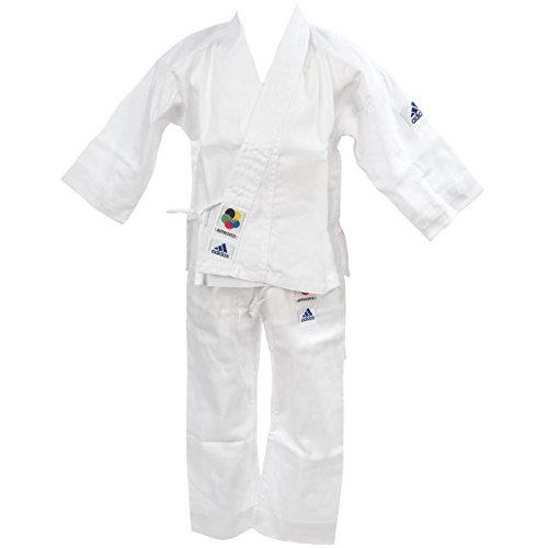 adidas, Uniforme da karate, karategi per bambini, Bianco (brilliant white), 160/170 cm