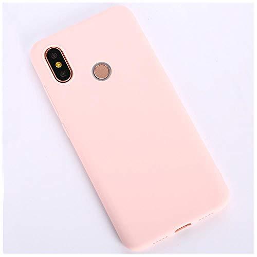 LIANLI Candy Macaron - Carcasa para Xiaomi Pocophone F1 Mi A1 A2 Lite 5X 8 SE 6X Redmi 4A 4X Note 4 5A 5 Plus 6 Pro 6A S2 Soft Cases (color rosa claro, tamaño: Redmi Note 4X 64GB)