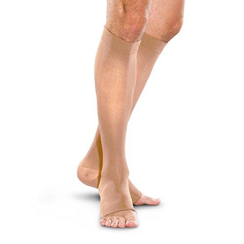 THERAFIRM de hombre y mujer de la rodilla alta puntera abierta