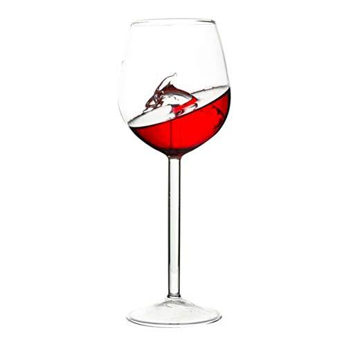 Qianren Starfish Seahorse Dolphin Rotweingläser Cocktail Becher Glas Kristallklares Trinkglas für Champagner Weißwein Sherry