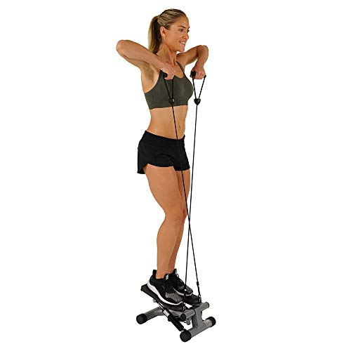 Product Image 9: Sunny Health & Fitness Mini Stepper with Resistance Bands