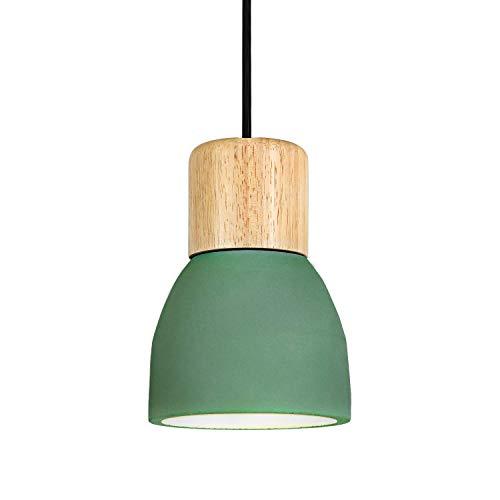 ZXM Hormigón Ligero Época Colgante LED, Lámparas Regulables 1 Colgante De Luz Luminaria Industrial E27 Lámpara De Techo De Cemento Altura De La Isla De Cocina En El Comedor Corredor Cafe,Verde