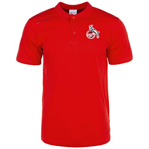uhlsport Herren 1.FC Köln Essential Polo Shirt, rot, M