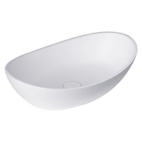 STONEART Waschbecken LC149 (Mineralguss) weiß/56x35cm/matt
