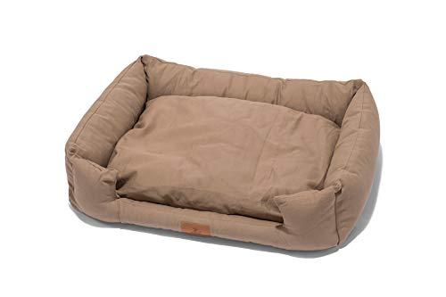 Lupo's Nest Cama para perro estilo cuna, felpa, antialérgico, relleno de fibra hueca, lavable a máquina, muy resistente y duradera cama para mascotas (pequeña 60 x 45 x 10, capuchino)