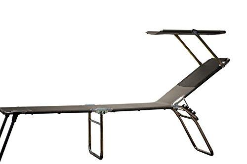 Jan Kurtz Amigo Sun Fourty-sedia à Chaise Longue avec auvent, Haute 42 cm