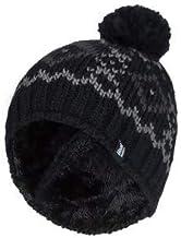 HEAT HOLDERS - Hombre Invierno Termico Gorro con pompón con Forro Polar