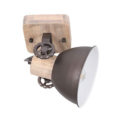 Deckenleuchte 1er Spot Anthrazit Steinhauer 7968A Wandlampe Vintage E27 Rustikal