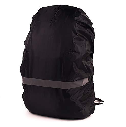 La funda impermeable para mochila tiene rayas reflectantes, resistente al viento y al agua, fácil de almacenar y resistente al desgarro. Adecuado para todo tipo de mochilas escolares (45L-55L)