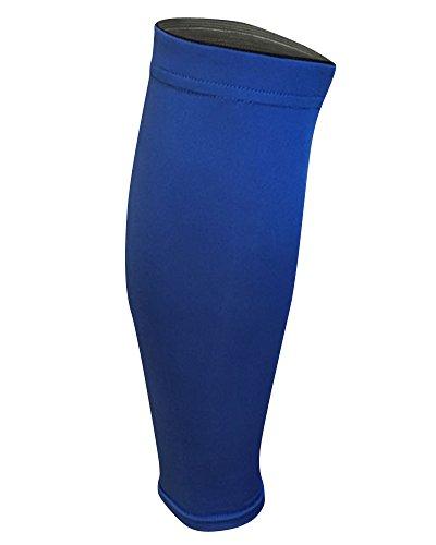 Élastique Protector Compression Sports Sock/Sports Calf Leg Sleeves Support,Évitent les Périostites Tibiales, les Douleurs et les Crampes aux Mollets (1 pièce) Bleu M