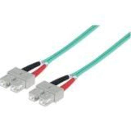 Intellinet KB001323 Intellinet SC/SC 50/125 μm Glasvezel patchkabel met Multimode 10 Meter lengte, Aqua, 10 Meter Lengte