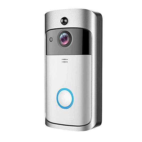 Cámara Smart Wireless WiFi vídeo HD timbre de la puerta de seguridad con detección de movimiento PIR Noche Visión de dos vías de conversación y de video en tiempo real for iOS y Android Smart Home